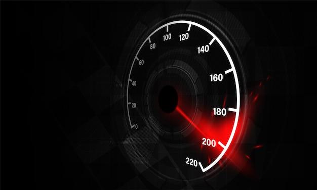 Fond de mouvement de vitesse avec indicateur de vitesse