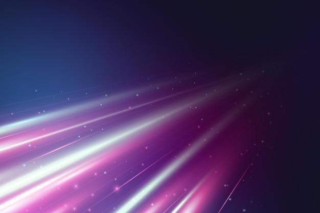 Fond de mouvement de vitesse néon réaliste