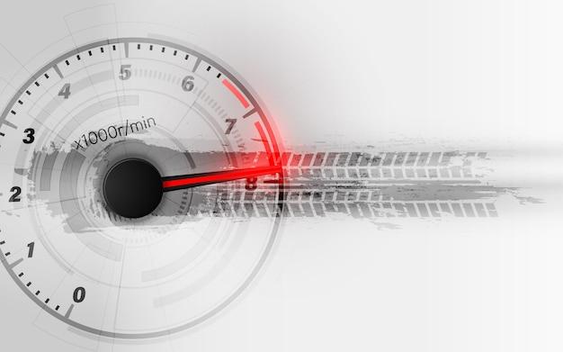 Fond de mouvement de vitesse avec voiture de compteur de vitesse rapide. fond de vitesse de course.