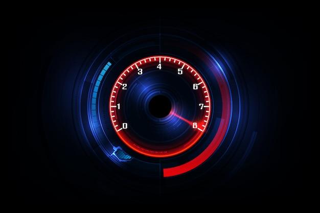 Fond de mouvement de vitesse avec voiture de compteur de vitesse rapide