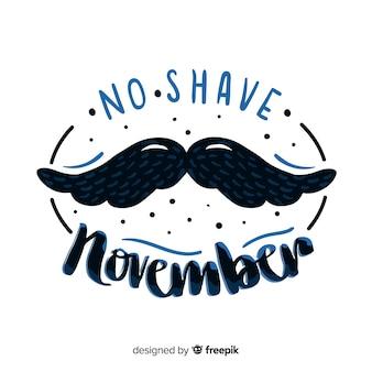 Fond de movember moustache dessiné à la main