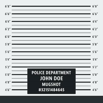 Fond De Mugshot De Police Vecteur Premium