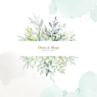 Fond multi-usage aquarelle cadre floral