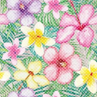Fond multicolore de fleurs