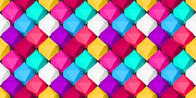 Fond multicolore d'objets géométriques