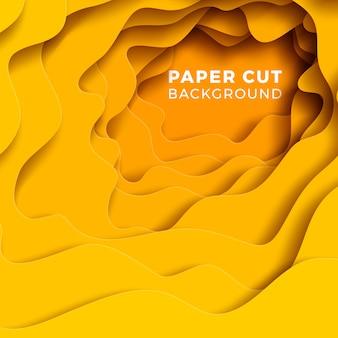 Fond multicolore réaliste en papier papercut.
