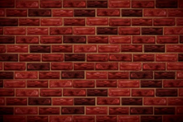 Fond de mur de brique rouge rétro