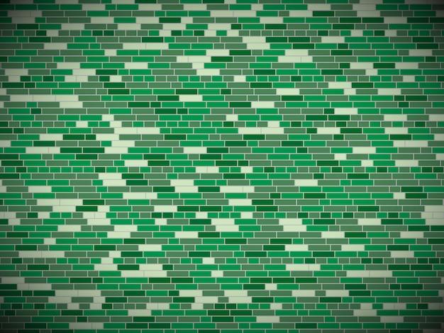 Fond de mur de brique verte avec vignette.
