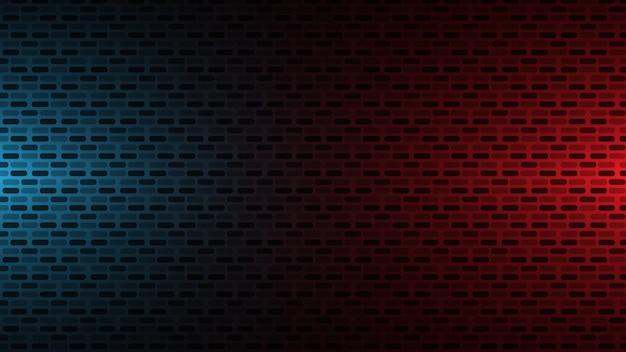 Fond de mur rouge et bleu