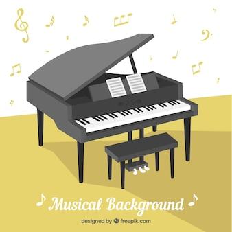 Fond musical avec piano
