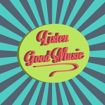 Fond de musique abstraite avec des notes