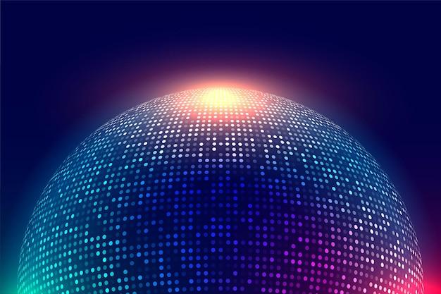 Fond de musique de boule disco brillant