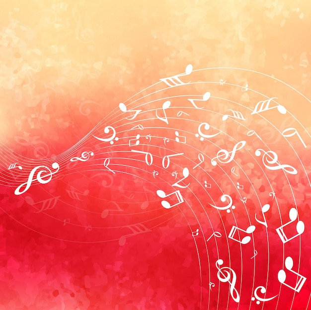 Fond de musique colorée moderne