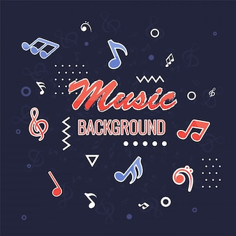 Fond de musique avec des notes de musique.