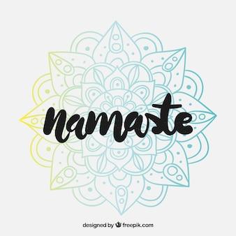 Fond namaste avec mandala coloré