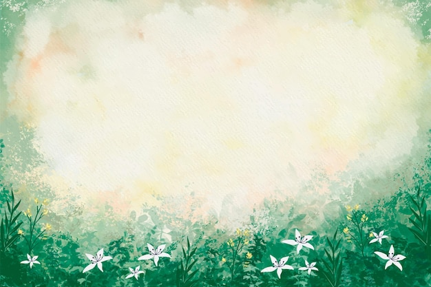 Fond de nature aquarelle peinte à la main