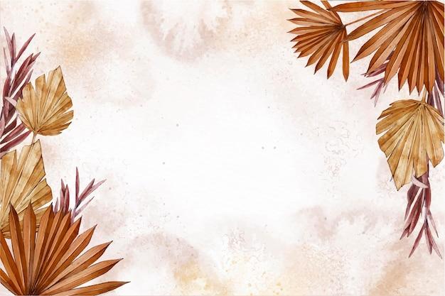 Fond De Nature Aquarelle Avec Des Plantes Vecteur gratuit
