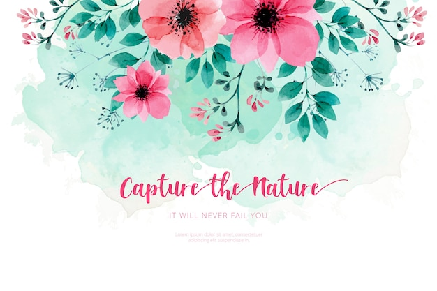 Fond de nature aquarelle