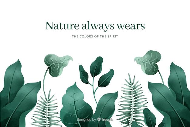 Fond de nature avec citation
