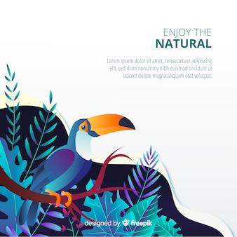 Fond de nature dégradée