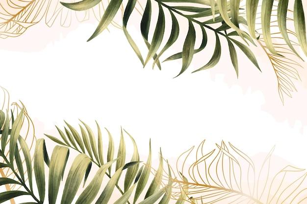 Fond de nature avec feuille d'or