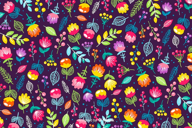 Fond de nature de fleurs colorées