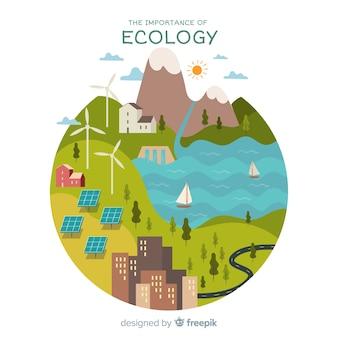Fond de nature moderne avec le concept d'écologie