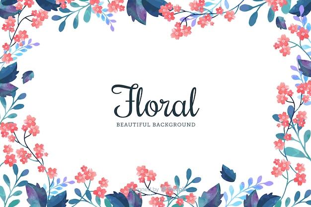 Fond naturel avec des fleurs plates
