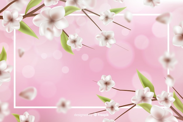 Fond naturel avec des fleurs réalistes