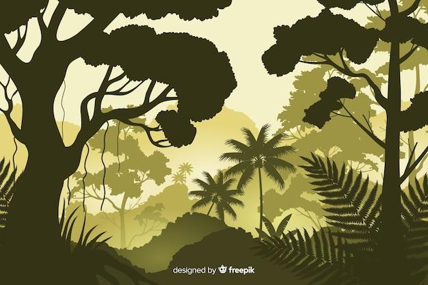 Fond naturel avec paysage de forêt tropicale