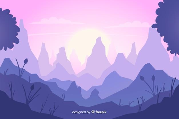 Fond naturel avec paysage de montagnes
