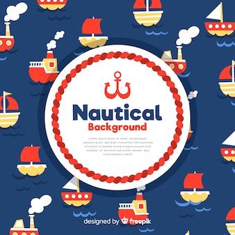 Fond nautique de bateaux