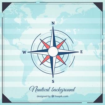 Fond nautique avec des points cardinaux