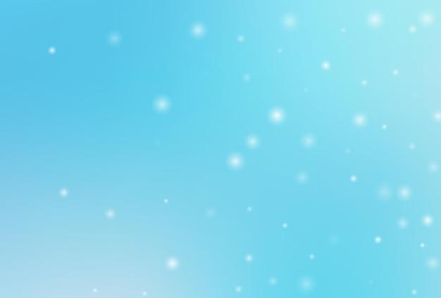 Fond de neige d'hiver. vecteur de flocon de neige tombant