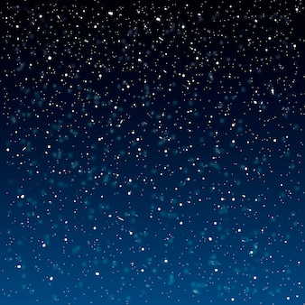Fond de neige qui tombe. illustration avec des flocons de neige. ciel de neige d'hiver.