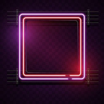 Fond néon carré
