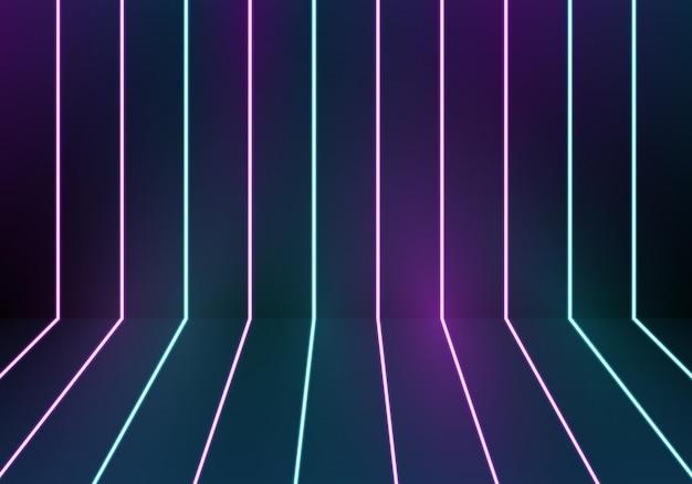 Fond de néons bleu et violet brillant. illustration vectorielle. abstrait.
