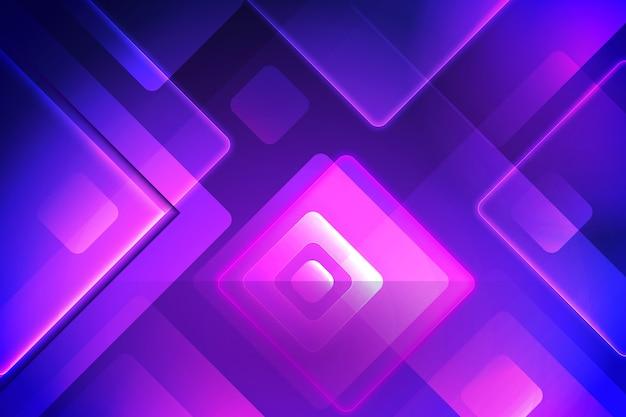 Fond de néons de formes géométriques