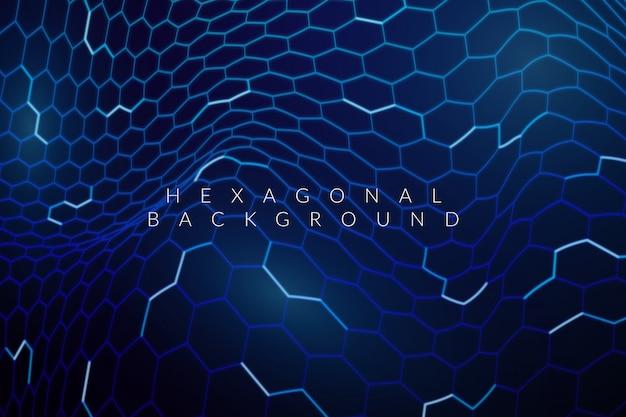 Fond net futuriste hexagonal