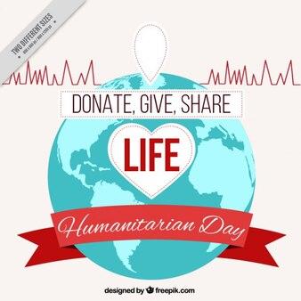 Fond de nice pour la journée humanitaire
