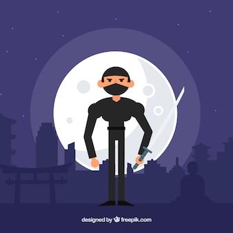 Fond de ninja la nuit