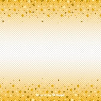Fond de noël avec des étoiles d'or