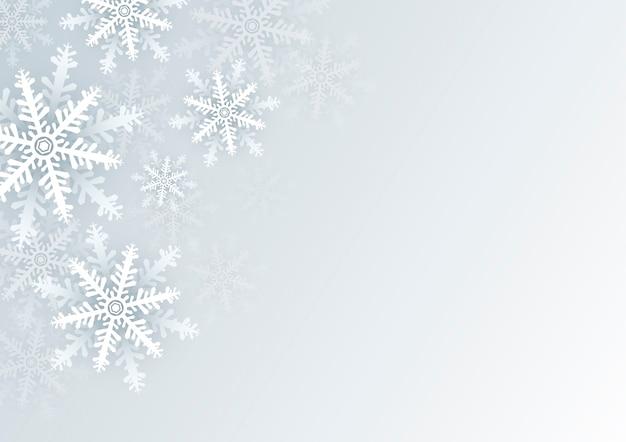 Fond de noël de flocon de neige blanc avec espace copie