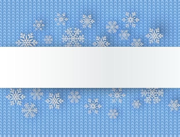 Fond de noël avec des flocons de neige décoratifs