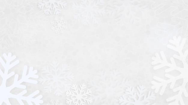 Fond de noël avec des flocons de neige, fond abstrait de flocons de neige gris. flocon de neige de vecteur.