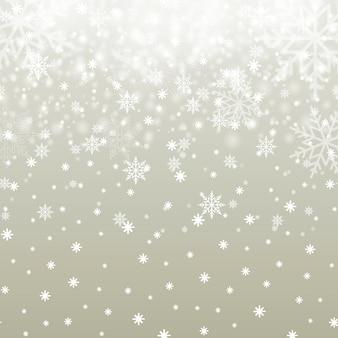 Fond de noël avec des flocons de neige qui tombent. vecteur