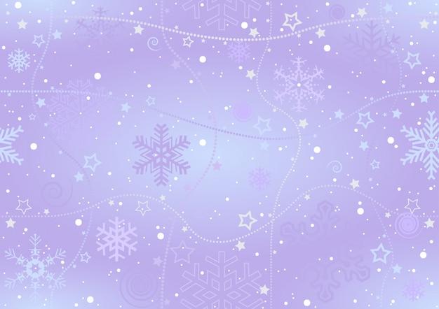 Fond de noël de flocons de neige
