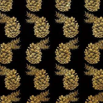 Fond de noël golden hatching style