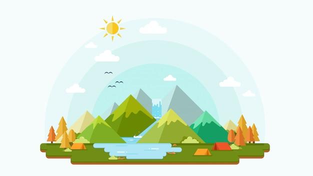 Fond de noël et paysage