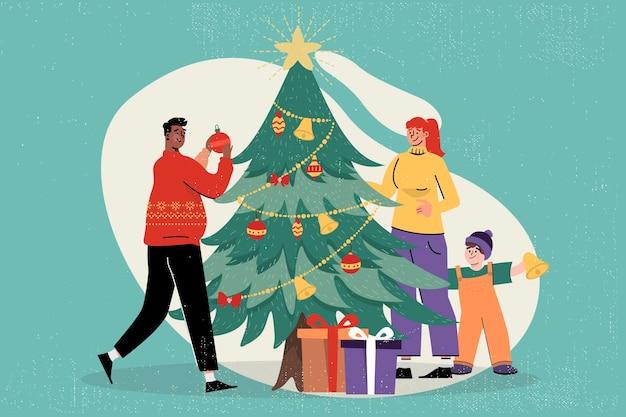 Fond De Noël Vintage Vecteur gratuit